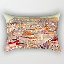 Cushion Covers Of Watercolor 12 X 20 Inches / 30 By 50 Cm Best Fit For Saloon Home Lounge Monther Festival Play Room Double Sides