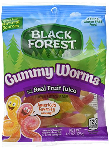 Black Forest Gummy Worms Candy, 4.5 Ounce Bag, Pack of 12]()