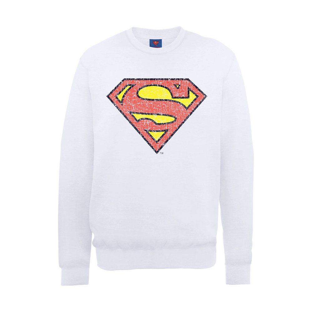 DC Comics Boys Official Superman Shield Crackle Kids Sweatshirt
