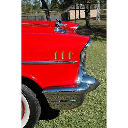 Eckler's Premier Quality Products 57-130561 Chevy Bel Air Fender Louvers, Gold