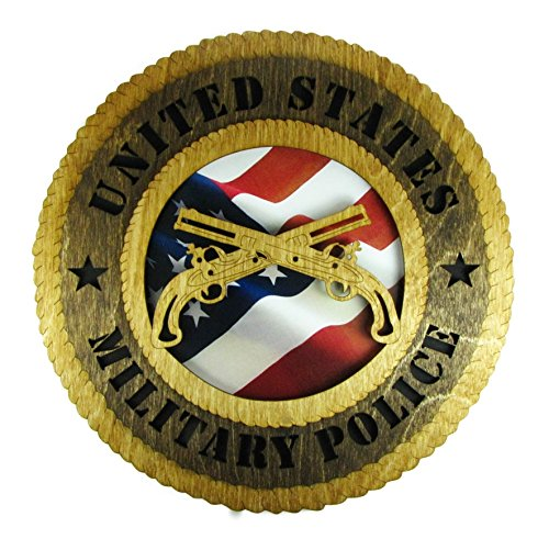 (Military Police Laser Cut Military Wall Plaque with American Flag)