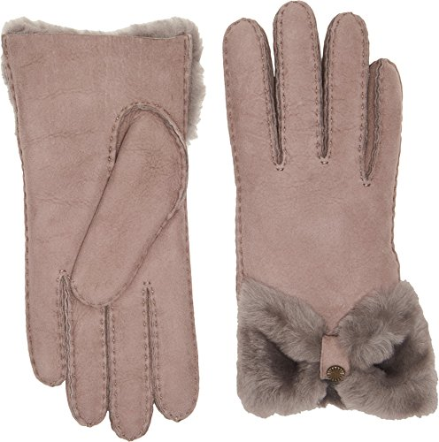 UGG Women's Bow Waterproof Sheepskin Gloves Stormy Grey MD by UGG