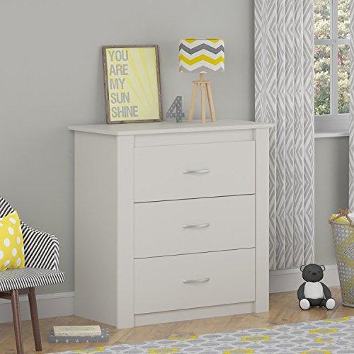 White 3 Drawer Dresser - 3