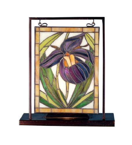 2nd Ave Lights (Meyda Tiffany 68351 Lady Slippers Lighted Decorative Mini Tabletop Window, 9.5