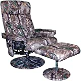Relaxzen 60-425111CF Leisure Recliner Chair with 8-Motor Massage & Heat, Camouflage