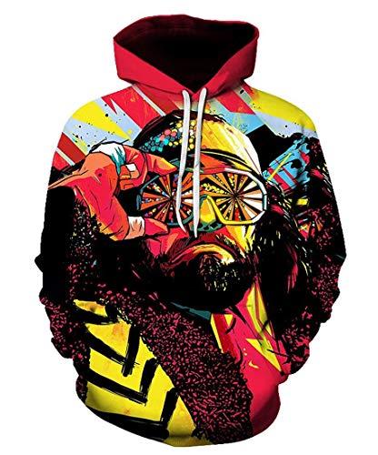 SKCUTE_SWEATER Cool Psychedelic Macho Man Hoodie Sweatshirt Hipster