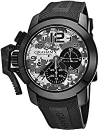 Chronofighter Black Arrow Mens Automatic Chronograph Watch - 47mm Grey Camouflage Face with Date and Sapphire