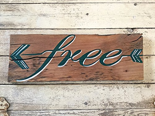 Wood Arrow Living Room Wall Art Sign Sayings Quote, Boho Home Decor, Free