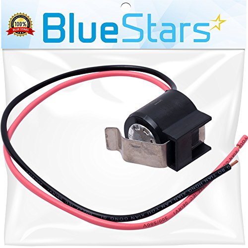Ultra Durable W10225581 Refrigerator Bimetal Defrost Thermostat Replacement part by Blue Stars - Exact Fit for Whirlpool KitchenAid Kenmore fridges - Replaces WPW10225581, PS11750673, 2149849