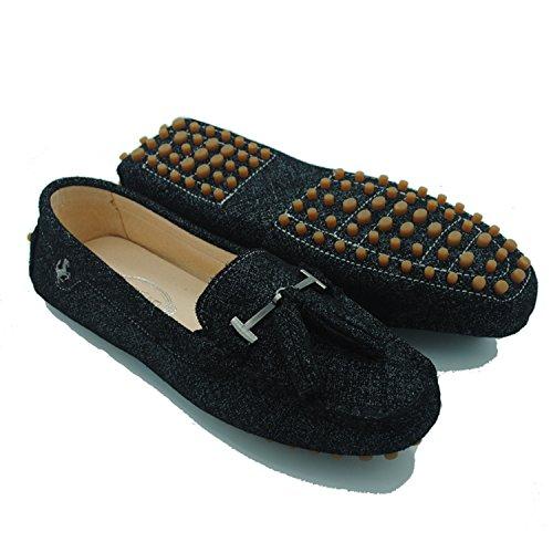 Minitoo - Sandalias con cuña mujer , color azul, talla 38