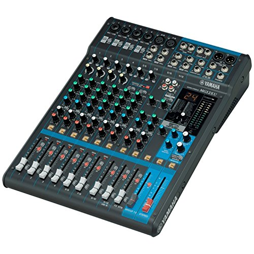 Yamaha MG12XU 12 Input, 4 Bus Mxer (with Compression, Effects, USB) w/ Microphone and Cable by Yamaha (Image #1)