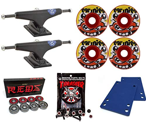 Venture Trucks Paul Rodriguez P-Rod Feniks LTD Pro V-Hollows Skateboard Trucks/52mm Clone Wheels/Bones Bearings/1