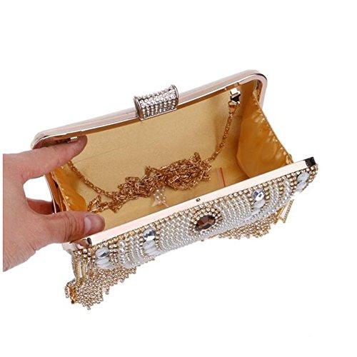 Prom Womens Party Nuptiale gold NAOMIIII Shoulder Diamante Bag Ladies Soirée Sparkly Wedding Clutch 0wSISd