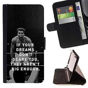 - Boxing Fighter Exercise Motivational Quote - - Monedero PU titular de la tarjeta de cr????dito de cuero cubierta de la caja de la bolsa FOR LG OPTIMUS L90 RetroCandy