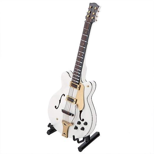 Garosa Guitarra Eléctrica de Madera En Miniatura con Caja Modelo ...