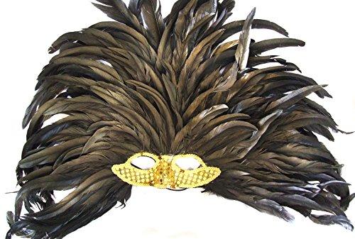 Venetian Mask Mardi Gras Queen Cleopatra Gold Elaborate Halloween ()