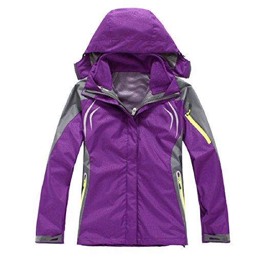 Comfy Women's Flannel Fall Winter Windproof 2 Piece Bugaboo Jacket Purple (Bugaboo Parka)