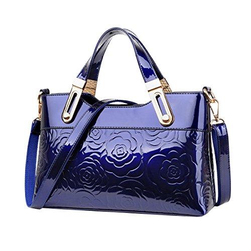 Ayer Las Señoras De La Manera Empaquetan Las Señoras Del Bolso Empaquetan El Bolso De Hombro Blue