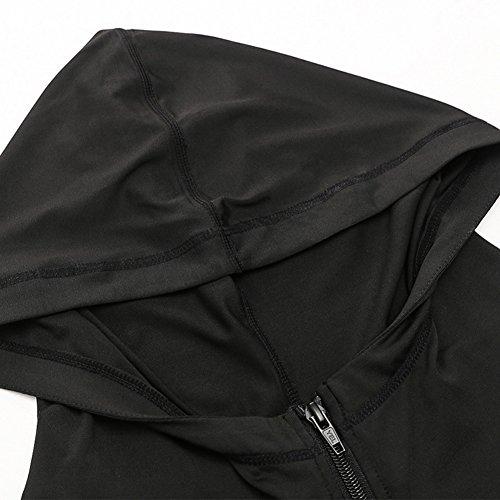 À Capuche Alizeal Sport Pour Rapide De Noir Femme Veste séchage YqxZ7ZwgX