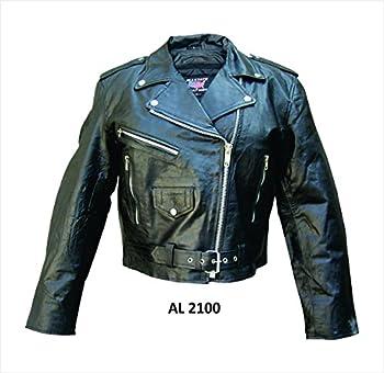 Ladies Lambskin Motorcycle Jacket - L - AL2100