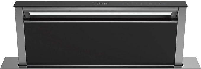 Hotte plan de travail Siemens LD97DBM60 - Hotte aspirante Intégrable - largeur 88 cm - Débit d'air maximum (en m3/h) : 750 - Niveau sonore Décibel mini. / maxi. (en dBA) : 43/67