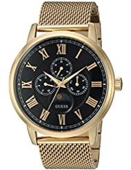 GUESS Mens Stainless Steel Mesh Bracelet Watch, Color: Gold-Tone (Model: U0871G2)