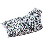 Kids Bean Bag Chair, SUKEQ Stuffed Animal Storage Bean Bag Plush Toy Blankets Soft Cotton Canvas Toy Organizer for Towels, Blankets, Clothes (A)
