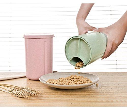 Dispensador de cereales de almacenamiento bin de almacenamiento de contenedores con tapa - para grano o comida para mascotas Pack of 3: Amazon.es: Hogar