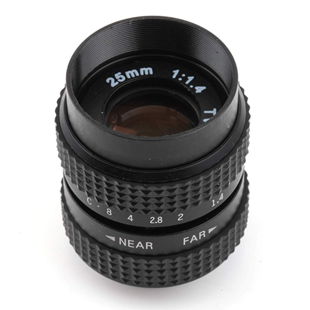 Pixcoテレビテレビレンズ/ CCTVレンズCマウントカメラ用25 mm f1 . 4 inブラック   B00GZIW55E