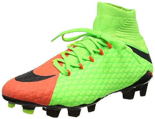 Nike Hypervenom Phatal Iii Df Fg Mens Football Boots 852554 Soccer Cleats (UK 7.5 US 8.5 EU 42, Electric Green Black 308)