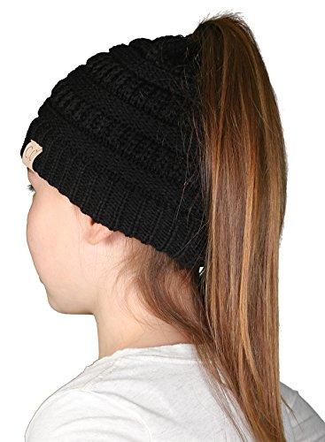 BT2-3847-06 Children's Beanie Tails: Black