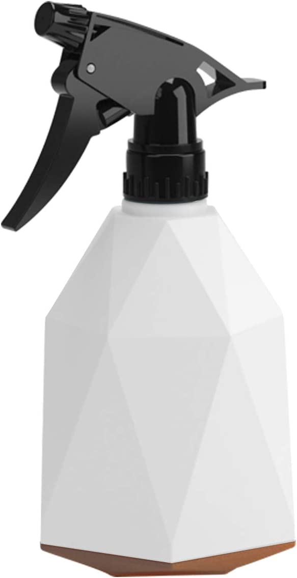Plastic Spray Bottle, Pressure Watering Can, Outdoor Indoor Plant Mister, Adjustable Nozzle Watering Plastic Spray Bottle, 0.6L/20oz Handheld Spray Bottles for Garden Plants Cleaning Solutions (White)