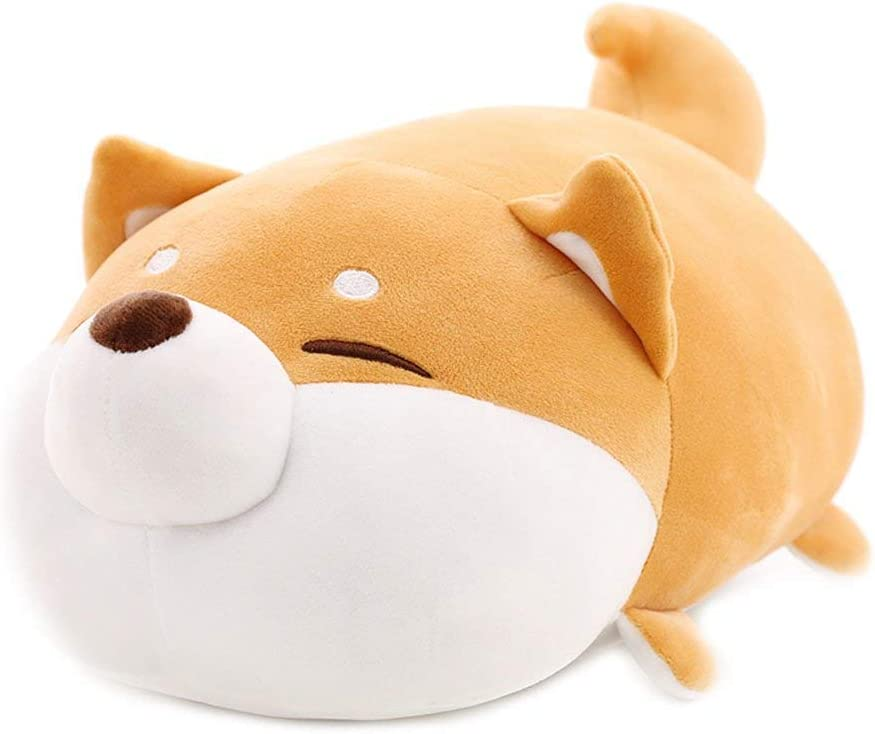 MathewArt Cute Shiba Inu Dog Throw Pillow Animal Pillows Plush Toy (Dog1, 12 Inch)