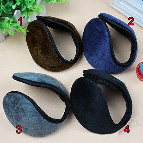AnHua Unisex New Men Women Winter Ear Muffs Warmers Pad Fleece Cover Wraps Earmuffs Earwarmers Fit Most