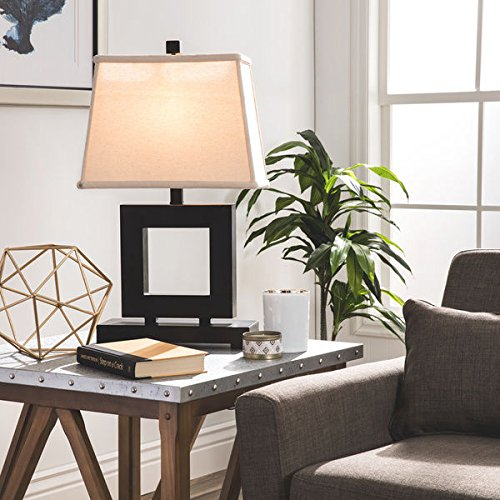 Patina/ Bronze Square Table Lamp by Patina