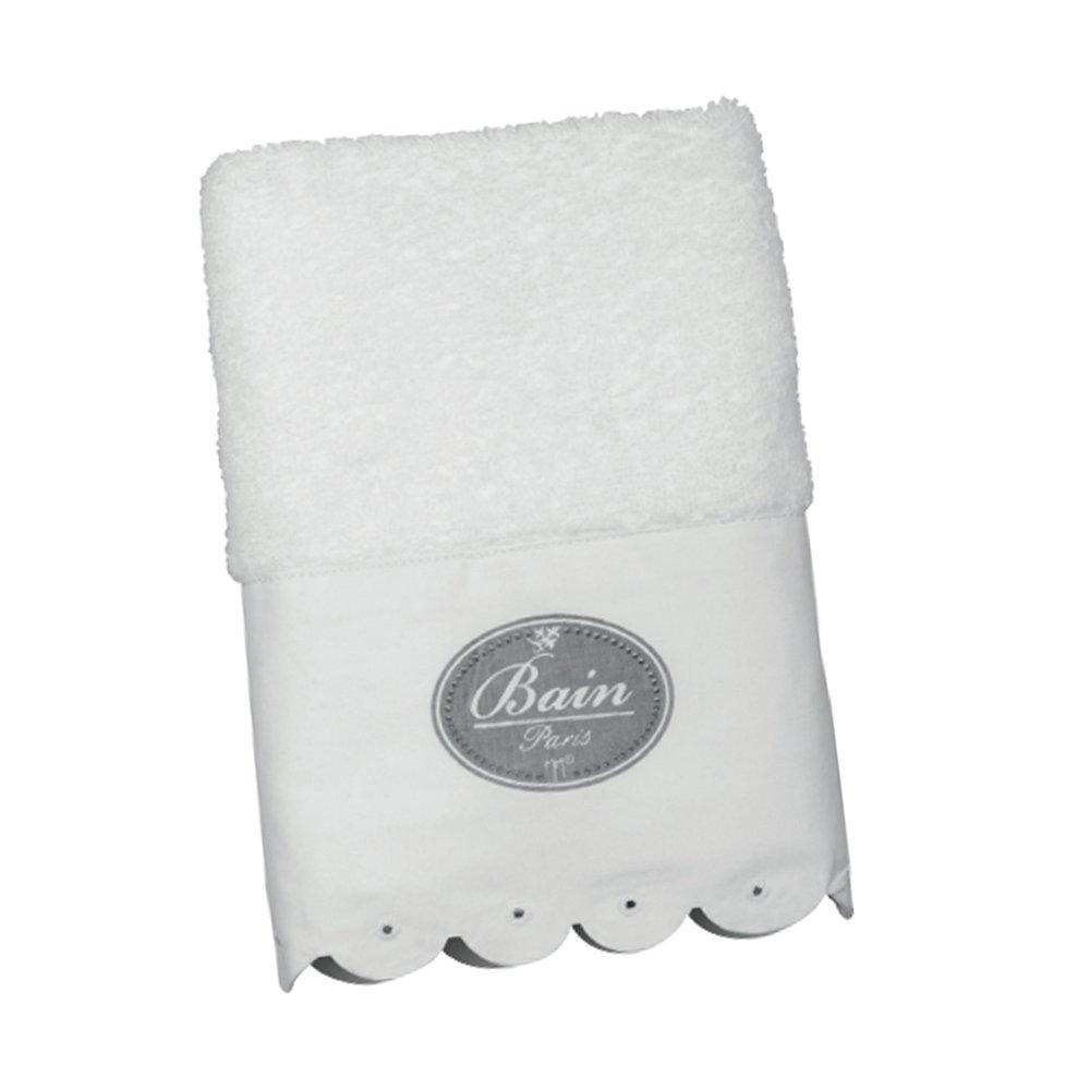 Serviette d'invité BAIN PARIS 30x50 en Coton Blanc Essuie-Main Ligne JUPON Mathilde M