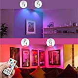 Wireless Spotlight, 2 Pack RGB Color Changing LED