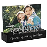 picture frame sisters - Malden International Designs Sisters Desktop Expressions with Silver Word Attachment Picture Frame, 4x6, Black