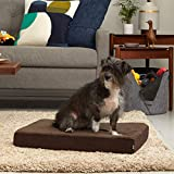 BarkBox Thick Orthopedic Gel Memory Foam Enhanced Dog Bed – Removeable Washable Cover – Small – Espresso/Brown – Free Surprise Inside For Sale