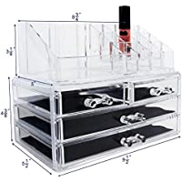 Ikee Design Acrylic Jewelry & Cosmetic Storage Display...