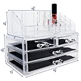 Ikee Design Acrylic Jewelry & Cosmetic Storage Display Boxes Two Pieces Set. (Kitchen)