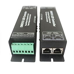 JOYLAND 4 Channel Digital Display DMX Decoder DMX512 LED Controller Driver DC 12~24V for RGBW LED Strip or lights
