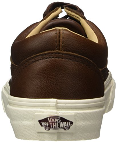 Vans Herren Old Skool Plateau Braun (Lux Leather/ Shaved Chocolate/porcini)