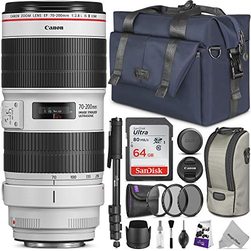 Canon EF 70-200mm f/2.8L is III USM Lens w/Advanced Photo and Travel Bundle (Best 2.8 Lens For Canon)