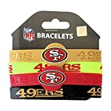 aminco NFL San Francisco 49ers Silicone Bracelets, 4-Pack