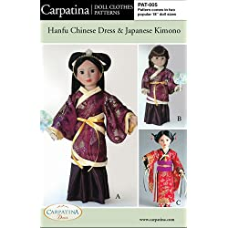 "Pattern for Hanfu & Kimono - fits 18"" American Girl Dolls"