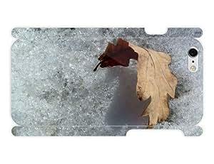 iPhone 6 Case - Photography - Autumn Leaf On Snow 3D Full Wrap