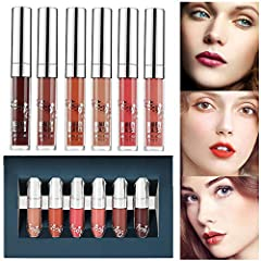 Beauty Glazed Lip Stick Set Specifics:Type: beauty matte lipstick Lip Gloss Lip PencilColors: 6 Colors for choiceFeatures: Long Lasting Maintain/ Waterproof/ Water-ResistantEffect: Matte liquid lipstickPackage Included: 6 x Long Lasting Lip G...