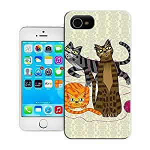 Unique Phone Case Three Cool Cats Hard Cover for iPhone 4/4s cases-buythecase