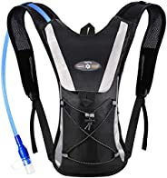 Hydration Pack, Hydration Backpack with 2L BPA Free Water Bladder, Lightweight and Hands-Free Water Pack for R